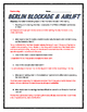 Cold War - Berlin Airlift / Blockade (Reading, Questions and Teacher Key)