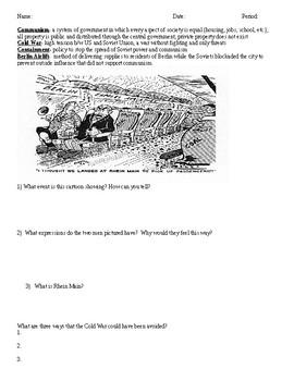 Cold War Cartoons Analysis Activity