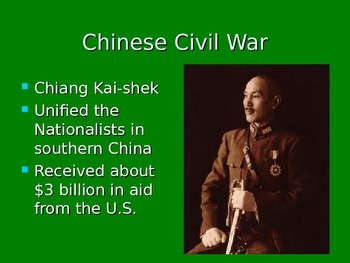 Cold War: Chinese Civil War, Korean War, and Early Vietnam student notes