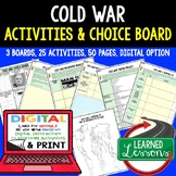 Cold War Choice Board Activities with Google Link (US History)