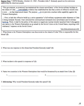 Cold War & Civil Rights: Quiz, Unit Test, and Review Materials