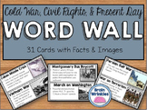 Cold War, Civil Rights, and Present Day America Word Wall