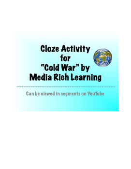 Cold War Cloze Activity