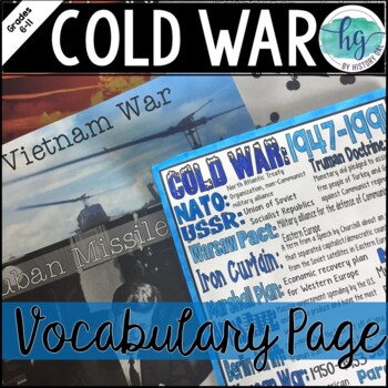Cold War Coloring Page and PowerPoint