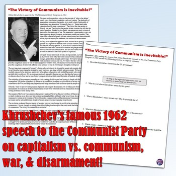 Cold War Communism Primary Source 2-Pack