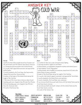 Cold War Comprehension Crossword