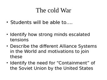 Cold War Containment