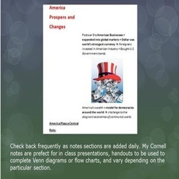 Cold War Cornell Notes *Bundle* (World History)