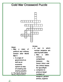 Cold War Crossword Puzzle