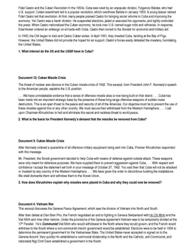 Day 120_Cold War: Cuba and Vietnam - Lesson Handout