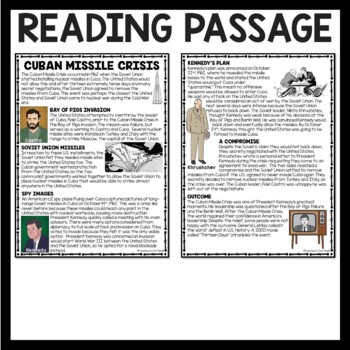 Cuban missile crisis worksheet answer