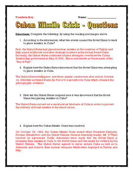 cold war cuban missile crisis reading questions assignments map timeline. Black Bedroom Furniture Sets. Home Design Ideas