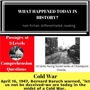 Cold War Differentiated Reading Passage April 16