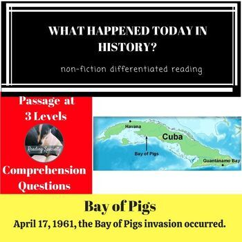 Bay of Pigs Differentiated Reading Passage April 17
