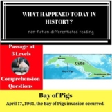 Bay of Pigs Differentiated Reading Comprehension Passage April 17