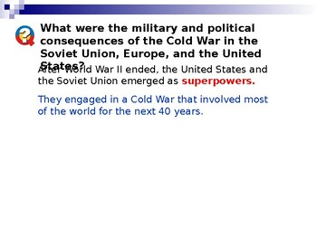 Cold War: Dissidents and the Red Scare