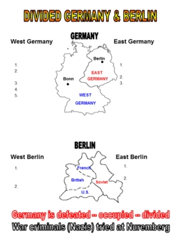 Cold War Divided Germany and Divided Berlin