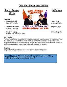 Cold War: End of the Cold War- Reagan Era & Iran Contra Affair