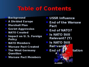 Global Policy & International Conflicts - NATO & The Warsaw Pact