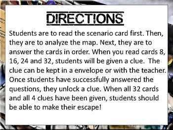 Cold War Escape Review Task Card Game Activity