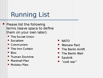 Cold War Europe PowerPoint (Day 1)