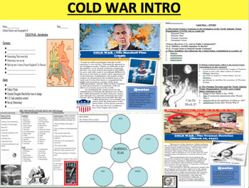 Cold War First Day - Introduction Lesson Bundle with Readi