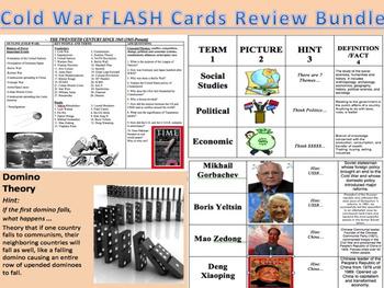 Cold War Flash Cards Common Core Review Bundle!!