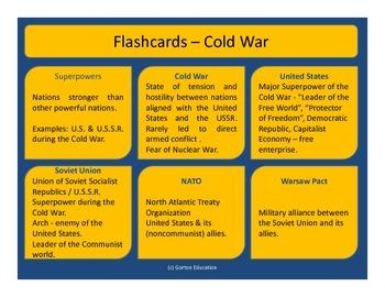 Cold War - Flash cards