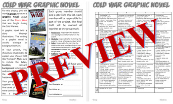 Cold War Graphic Novel - Project  w/ rubric - Editable