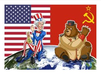 Cold War Graphic Organizer: Europe 11 x 17 & 8.5 x 11 with questions & key