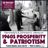 Great Society Kennedy & Johnson Paired Primary Source & Extended Writing