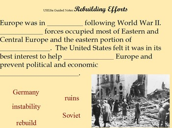 Cold War Guided Notes Flipchart