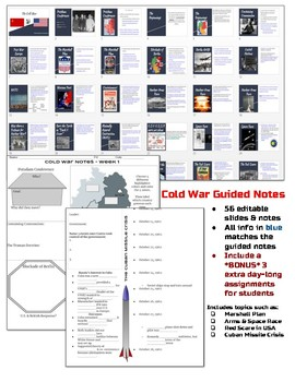 Cold War Guided Notes & Slides