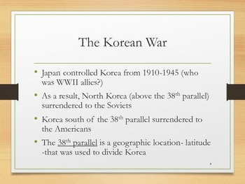Cold War Heats Up - Korea