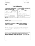 Cold War Homefront Powerpoint worksheet