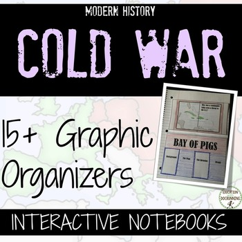 Cold War Interactive Notebook Graphic Organizers for Cold