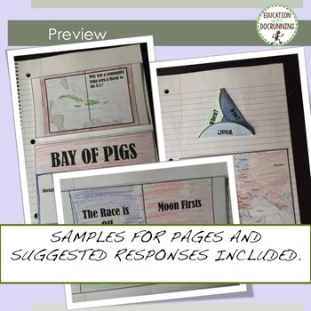 Cold War Interactive Notebook Graphic Organizers for Cold War Unit
