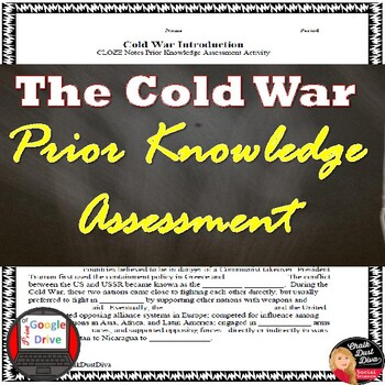 Cold War Introduction - Ideologies CLOZE Notes Activity PRINT & DIGITAL