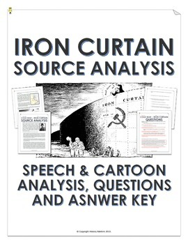 Cold War - Iron Curtain (Speech and Cartoon Analysis with Teacher Key)