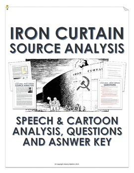 Cold War - Iron Curtain (Speech and Cartoon Analysis with