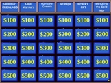 World History:  Cold War Jeopardy Review