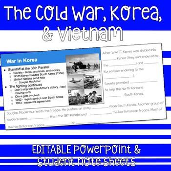 Cold War, Korea, & Vietnam Notes & Presentation