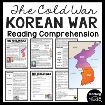 Worksheets Korean War Worksheet cold war korean readin by teaching to the middle reading comprehension worksheet communism