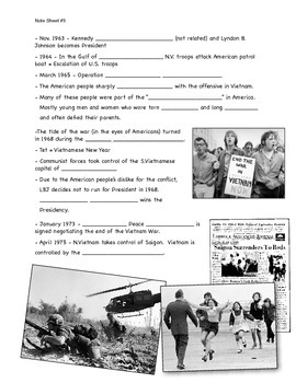 Cold War Lecture Presentation Note Sheet #5 of 5