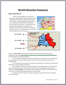 Cold War Simulation Activity + 1 Year Online Subscription