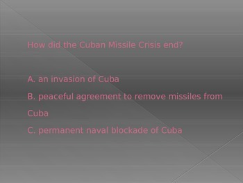 Cold War Quick Review PowerPoint FREEBIE