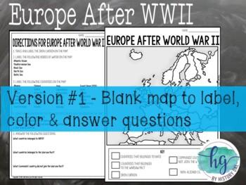 Cold War Map Activity By History Gal Teachers Pay Teachers