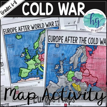 Cold War Map Activity by History Gal | Teachers Pay Teachers