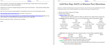 Cold War Mapping Activity