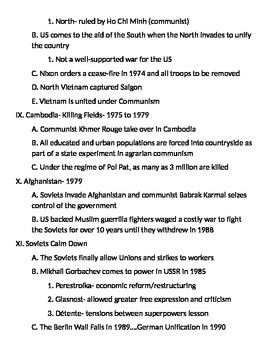 Global 2: Cold War Notes